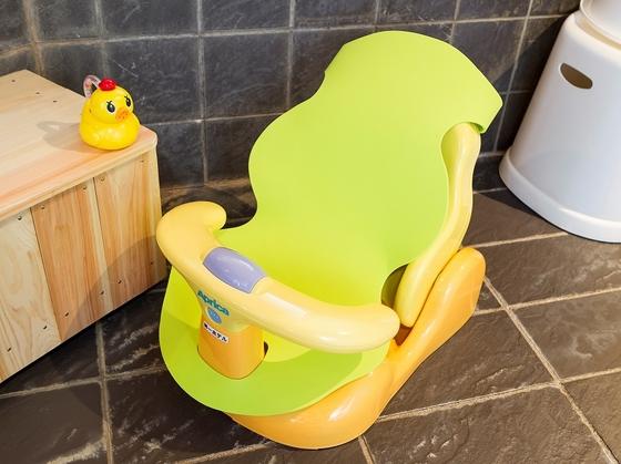 大浴場にも、ベビー用バスチェアーをご用意。