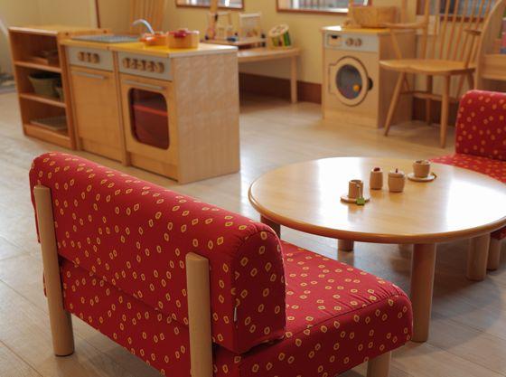 ドイツ「HABA社」製の玩具で揃えられた「キッズプレイルーム」