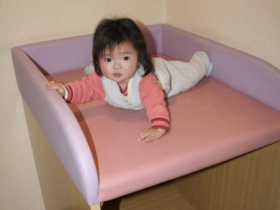 館内各所にオムツ替えベッドあり。授乳室も完備。
