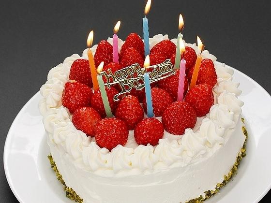 誕生日などのお祝いでケーキのご注文も承っています(事前予約)