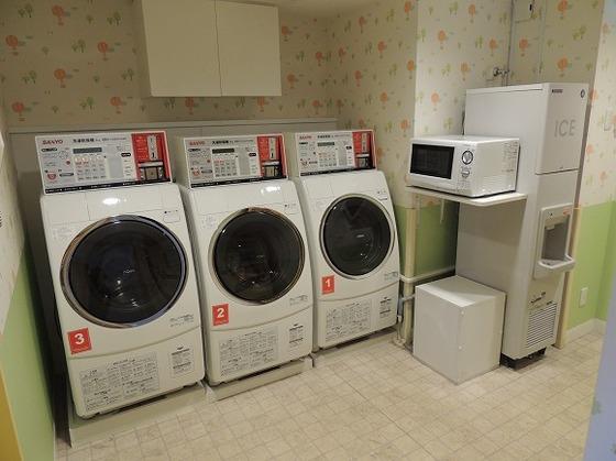 滞在中の空き時間に洗濯を済ませば帰宅してからもゆっくりできる