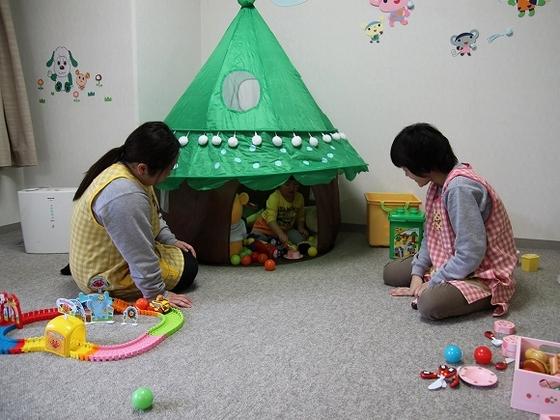 冬シーズン限定の託児室
