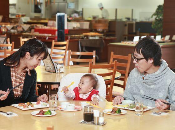 赤ちゃんプランのお客様は専用のお席をご用意