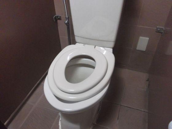 共用トイレのお子様用便座
