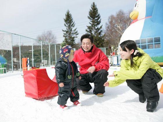 雪遊びデビューのお子様に最適なスキー場