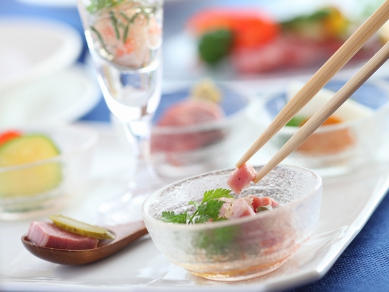 【ディナー例】ママに人気の創作フレンチはお箸で気軽に楽しめる