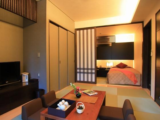 【新館和洋室例】ベッドがツインタイプ(部屋指定はできません)