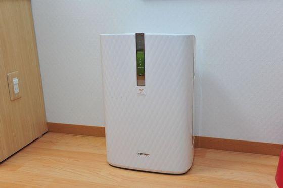 加湿空気清浄機はお部屋に備え付けです