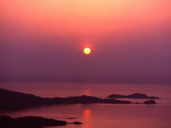 夕陽百選に選ばれたオリビアン小豆島からの夕陽