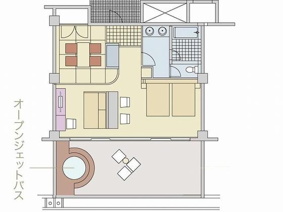 デラックスファミリー間取り図 広々66.42平米 和室もポイント