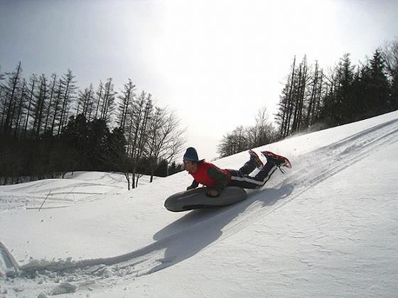 スノーシューで雪遊び体験