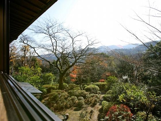 お部屋からは、四季折々の庭園や景色を眺めていただけます。