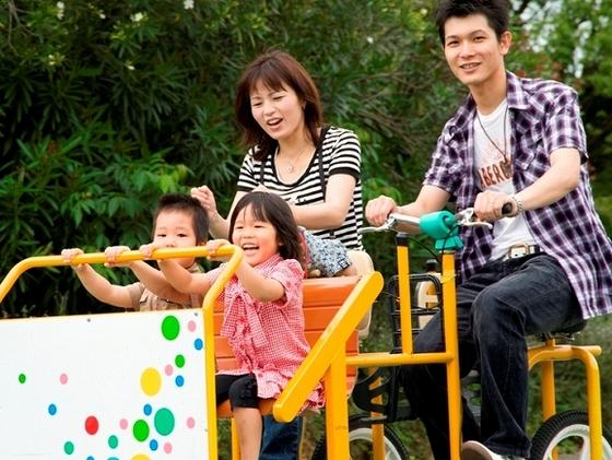 面白い自転車が乗れる「播磨中央公園」