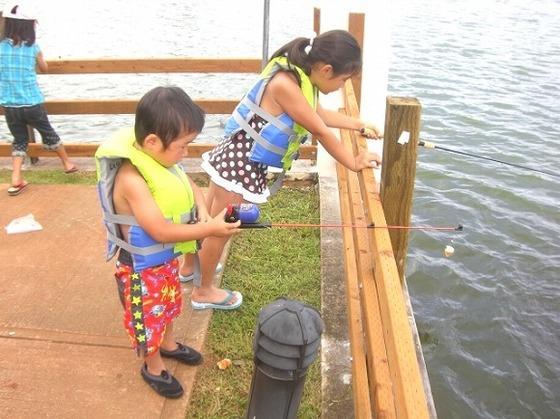 レイクフィッシングはお子様でも釣りが楽しめます