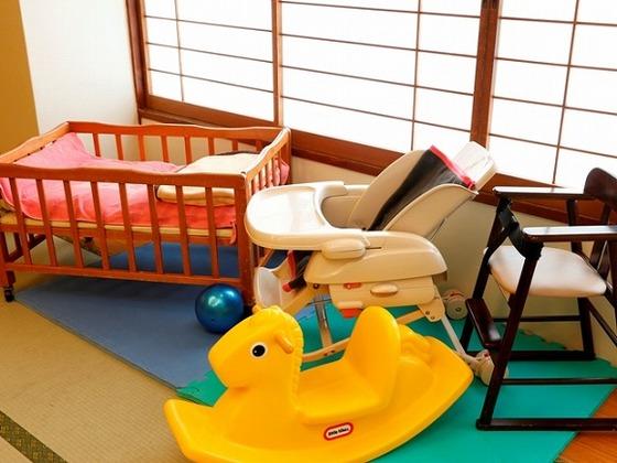 赤ちゃんとのお食事でも安心。ベビーベッドの設置もできます。