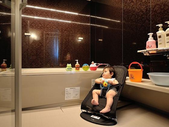 貸切家族風呂でお子様とふれあいのひとときを・・・。