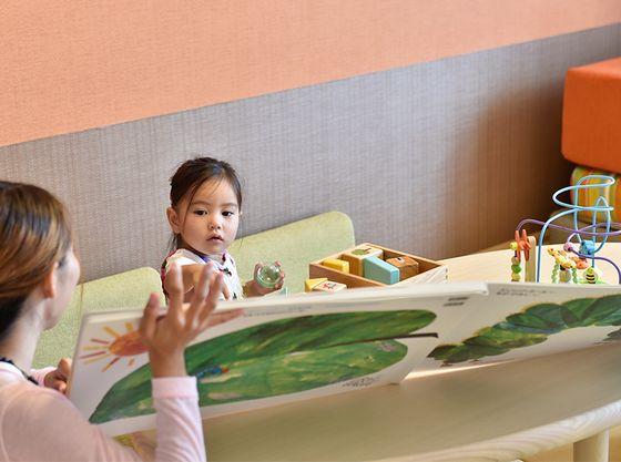 【認定ルーム】おもちゃや大きな絵本でお子様も楽しく過ごせます