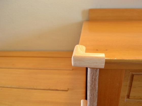 【認定ルーム】家具にはコーナーガードを設置