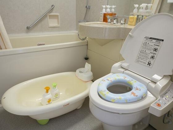 子供用アメニティなどお風呂・トイレの貸し出し備品も充実!