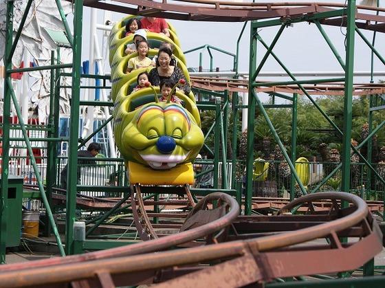 子供用の乗り物が豊富な伊豆ぐらんぱる公園