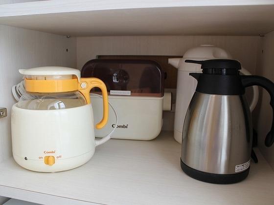 限定ベビールームに常設してある「哺乳瓶煮沸器等」ママに嬉しい備品をご用意