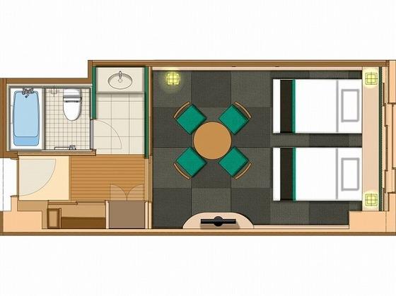 琉球畳の和室ではBEDでお寛ぎいただけます