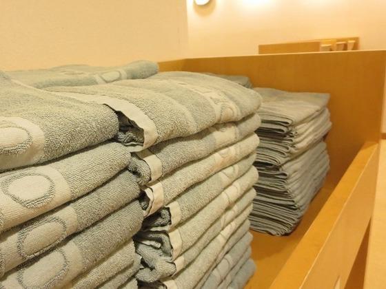 大浴場にはタオル常備!お部屋からお持ちいただく必要なし♪