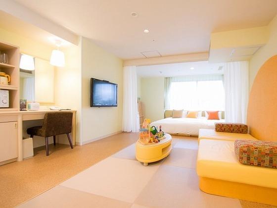 目的に応じて選べる多彩な客室【写真:ベビールーム(0~3歳向け)】