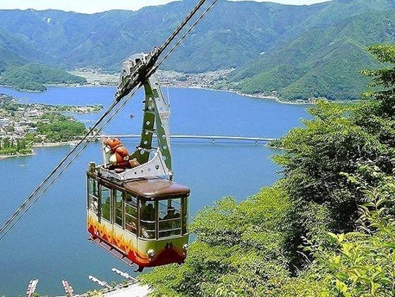 カチカチ山ロープウェイ 富士山と河口湖の大パノラマ
