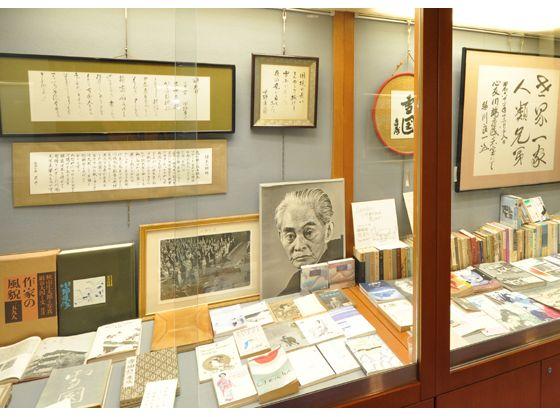 ノーベル文学賞を受賞された川端先生の展示コーナー