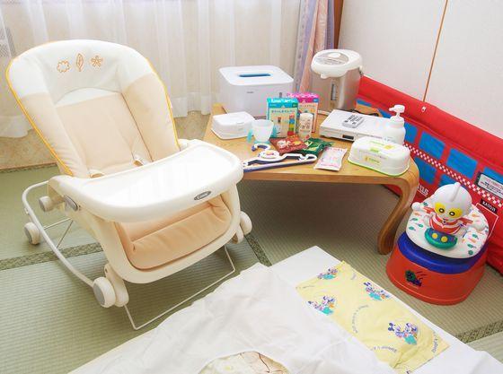 赤ちゃんプランには客室備品がいっぱい