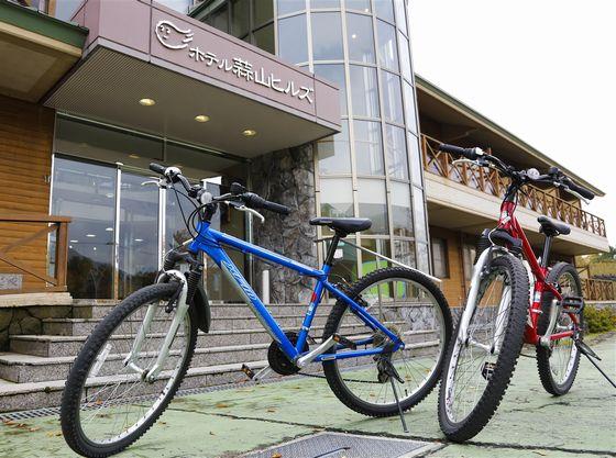 併設のレンタサイクルセンター。蒜山はサイクリングロードが整備されています