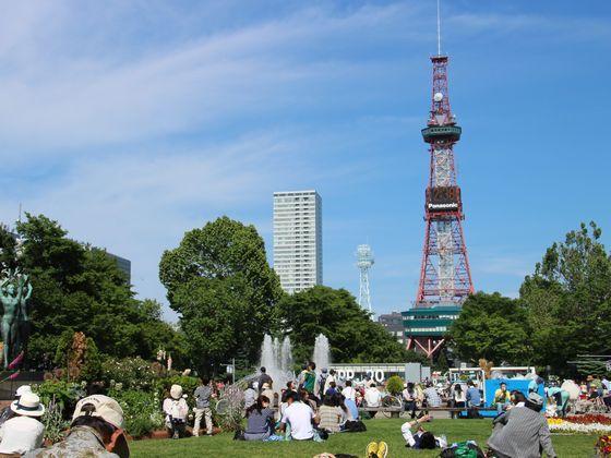 札幌のシンボル「大通公園」 地下鉄利用で約10分♪