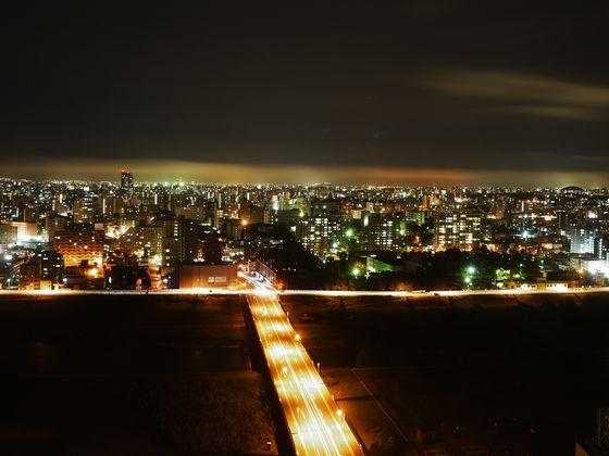 上層階からの夜景 地上90m25階建の夜景をお楽しみください