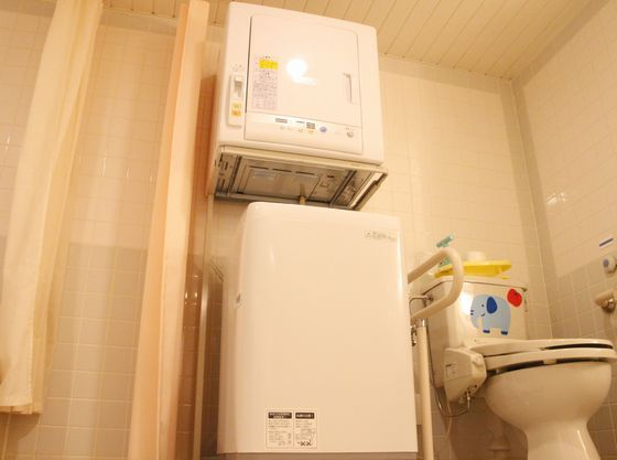 洗濯機、乾燥機(洗剤付) グッと着替えの荷物が減らせます♪