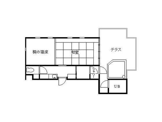 客室「ぼたん」の見取り図
