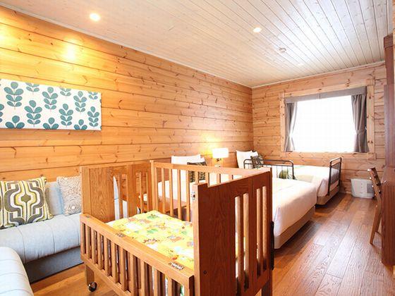 ベッドルームが3部屋あり、3世代のご旅行にもぴったり。