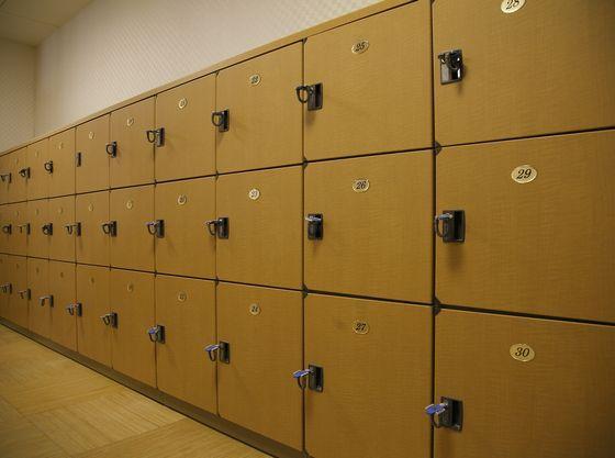 個人用の鍵のかかるタイプの無料ロッカーです。