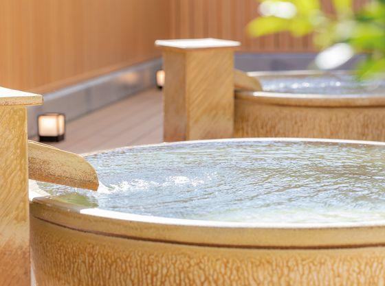 浴室は広くは有りませんがお子様の肌にも優しい小湊実入温泉の泉質です。