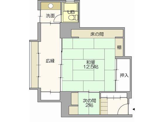 12.5畳の角部屋タイプのお部屋(約65平米)