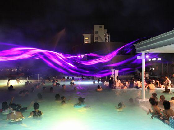 ザ アクアガーデンの噴水ショーは必見!