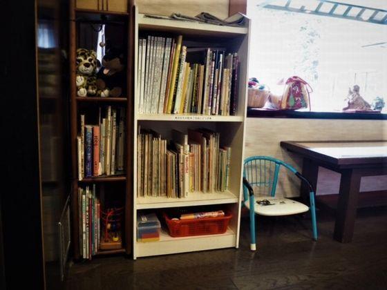 ロビーには、お子様向けの絵本やおもちゃも置いてあり、常時お使い頂けます。
