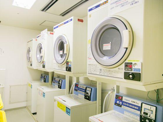 急な洗濯が必要な時にはランドリーで安心