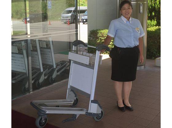 お荷物用カートをご利用ください。