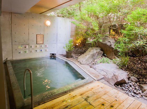 【露天風呂】森林浴気分でご入浴いただけます
