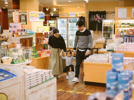 【売店】おむつやお土産品、おつまみなどを販売 しています
