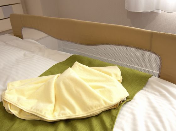貸し出し備品として、ベッドガードやベビーバスなどをがあります。