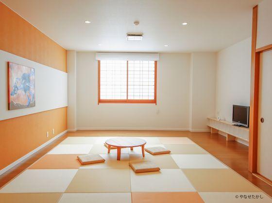 広々とした和室のお部屋。お子さまが目一杯動き回っても大丈夫!