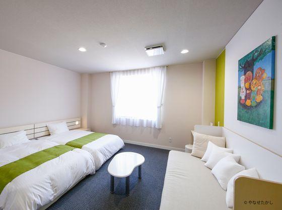 香北の山々が望める洋室のお部屋。