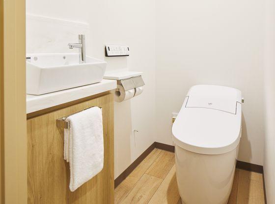 清潔感の溢れるトイレ